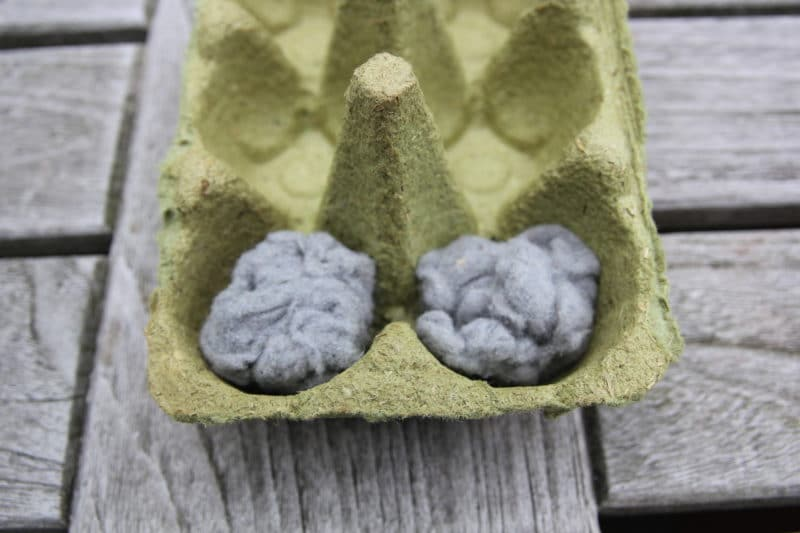 Dryer lint fire starter tutorial step 1
