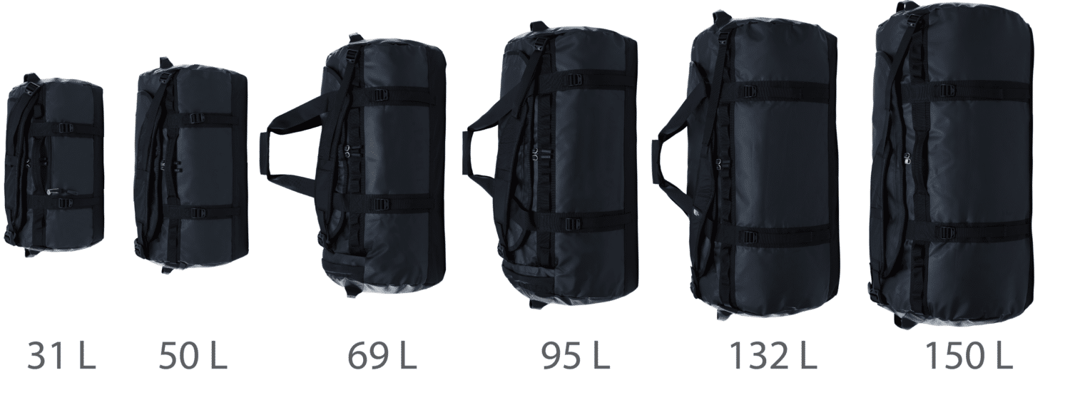 The North Face Base Camp Duffel Bag Size Comparison (XS, S, M, L, XL, XXL)