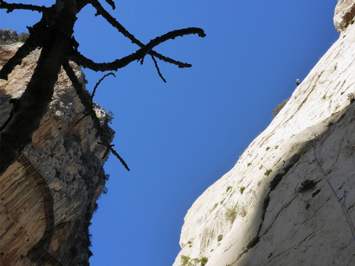 El Caminito del Rey Zeppelin Climbing second pitch