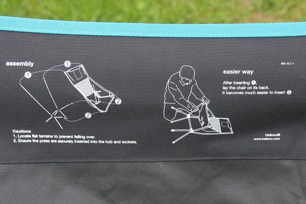 Helinox Sunset Chair Review Assembly instructions