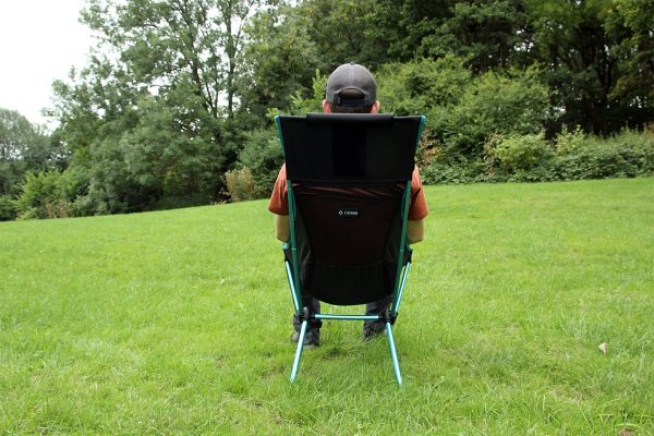 Helinox Sunset Chair Review Sitting test 1